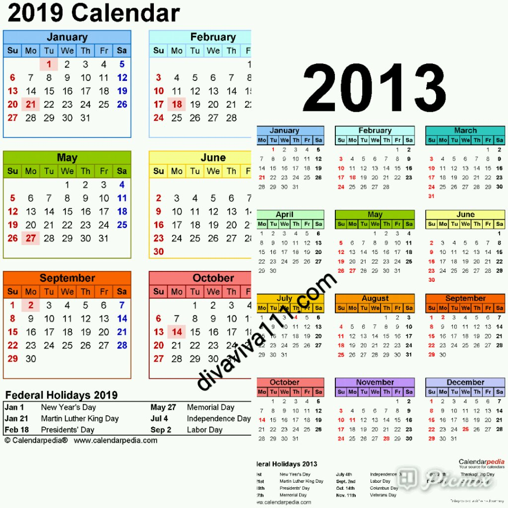 2013 To 2019 Calendar Did You Know 2013 Year Diary/Calendar is Same As 2019?   Welcome