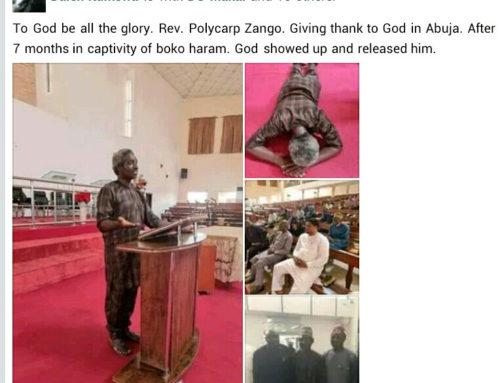 After 7 Months in boko haram's den Plateau Pastor Regains Freedom